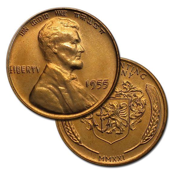 Lincoln Cent Overstrike
