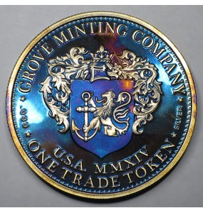"2014 Commemorative Proof of the 1872 Amazonian Dollar ""Blue Lady"""