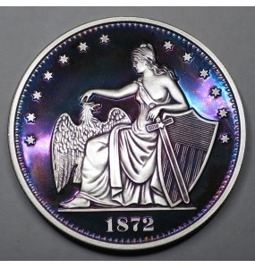 "2014 Commemorative Proof of the 1872 Amazonian Dollar ""Purple Lady"""