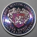 "2014 Commemorative Proof of the 1872 Amazonian Dollar ""Purple Lady"""