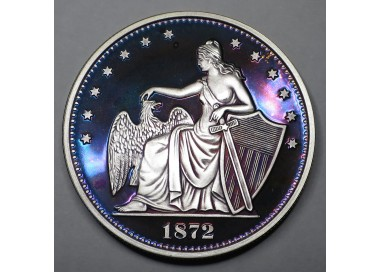 "2014 Commemorative Proof of the 1872 Amazonian Dollar ""Purple Lady 2"""