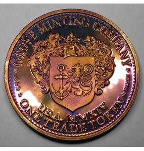 "2014 Commemorative Proof of the 1872 Amazonian Dollar ""Harvest Moon"""