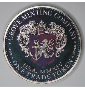 "2014 Commemorative Proof of the 1872 Amazonian Dollar ""Purple Lady 2"""