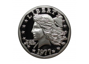 2017 Silver Commemorative Proof of the 1977 Liberty Dollar