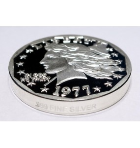 2017 Silver Commemorative Piedfort Proof of the 1977 Liberty Dollar