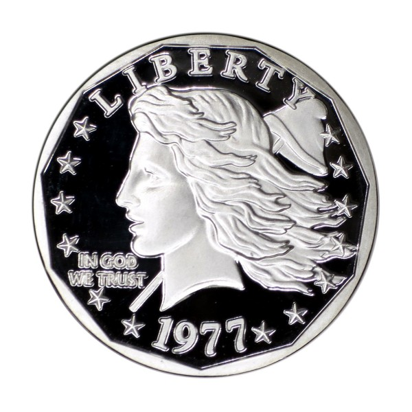 2017 Silver Commemorative Piedfort Proof of the 1977 Liberty Dollar