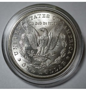 1898-O Morgan Silver Dollar - Choice BU - Clashed Die VAM