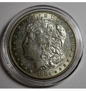 1884-S Morgan Silver Dollar - Keydate coin - Slider