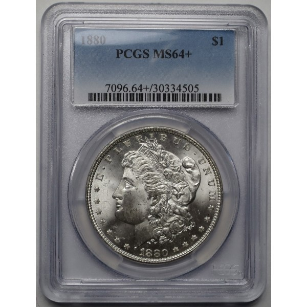 1880-P Morgan Silver Dollar PCGS MS64+