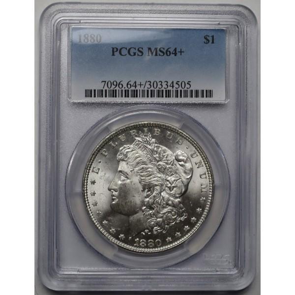 1880-P Morgan Silver Dollar PCGS MS64+