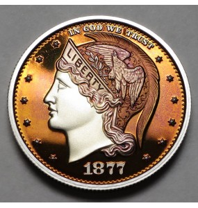 "2013 Helmeted Liberty Half Dollar ""Orange Crush"""