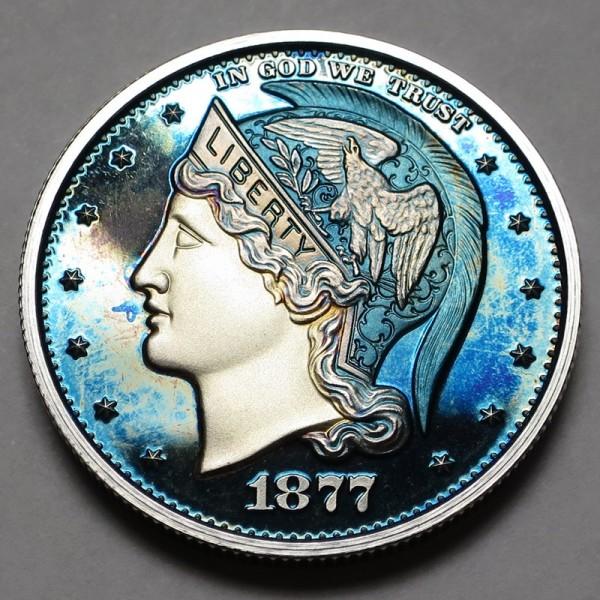 "2013 Helmeted Liberty Half Dollar ""Ice Blue"""