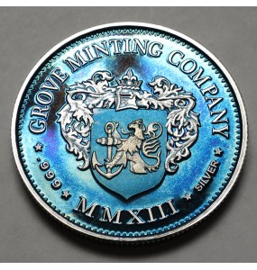 "2013 Helmeted Liberty Half Dollar ""Ice Blue"""