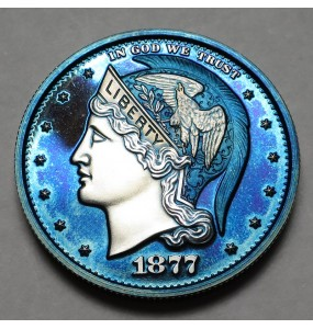 "2013 Helmeted Liberty Half Dollar ""Imperial Blue"""