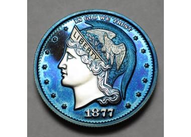 "2013 Helmeted Liberty Half Dollar ""Imperial Blue"""