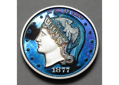 "2013 Helmeted Liberty Half Dollar ""Imperial Blue 2"""