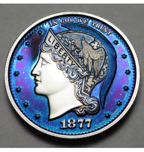 "2013 Helmeted Liberty Half Dollar ""Majestic Blue"""