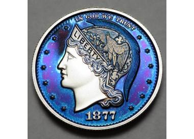 "2013 Helmeted Liberty Half Dollar ""Majestic Blue"""
