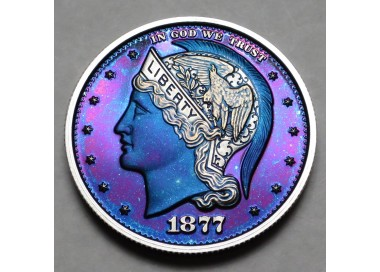 "2013 Helmeted Liberty Half Dollar ""Smurf"""