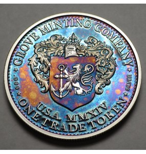 """2014 Commemorative Proof of the 1872 Amazonian Dollar """"Northern Lights 1"""""""