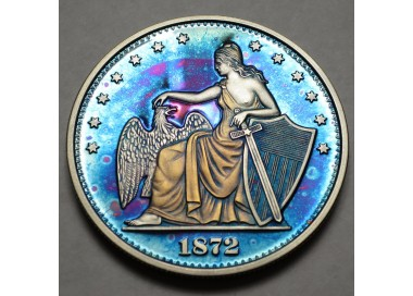 "2014 Commemorative Proof of the 1872 Amazonian Dollar ""Blue Horizons"""