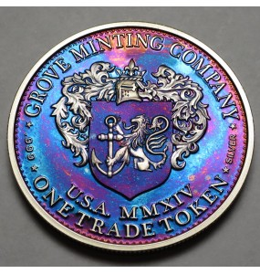 "2014 Commemorative Proof of the 1872 Amazonian Dollar ""Blue Horizons"""