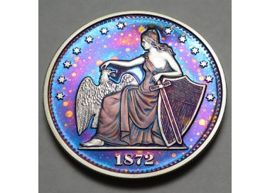 """2014 Commemorative Proof of the 1872 Amazonian Dollar """"Starry Night"""""""