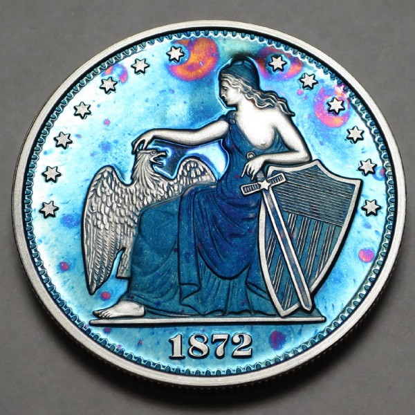 "2014 Commemorative Proof of the 1872 Amazonian Dollar ""Blue Lagoon"""