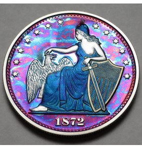 "2014 Commemorative Proof of the 1872 Amazonian Dollar ""Purple Haze"""
