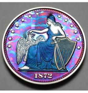 "2014 Commemorative Proof of the 1872 Amazonian Dollar ""Purple Haze"""