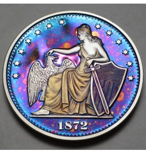 "2014 Commemorative Proof of the 1872 Amazonian Dollar ""Galaxy"""