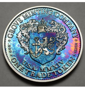 "2014 Commemorative Proof of the 1872 Amazonian Dollar ""Tie-Dye"""