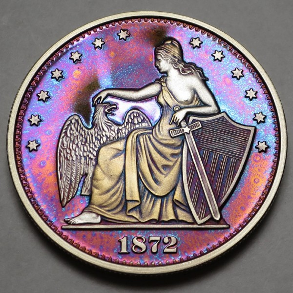 "2014 Commemorative Proof of the 1872 Amazonian Dollar ""Crimson Tide"""