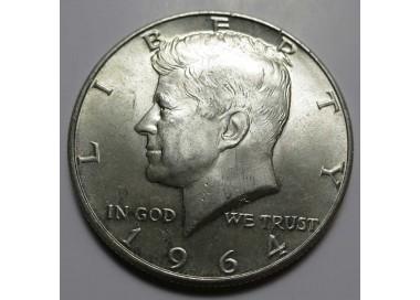 90% 1964 Kennedy Half Dollar - AU/BU