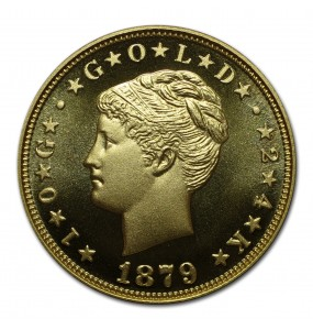 2019 Gold Commemorative Proof of the 1879 Coiled Hair Stella