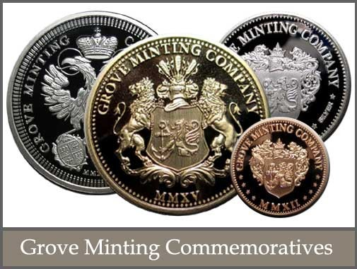 Full catalog of Grove Minting Commemoratives